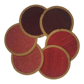 Kilim Coasters | Kirmizi - Set of 6 For Sale