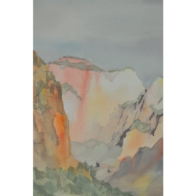 Western Mountain Landscape Watercolor C.1981 - Image 3 of 7
