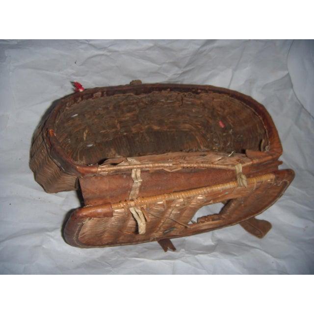 Vintage Wicker Fishing Creel Basket - Image 5 of 5