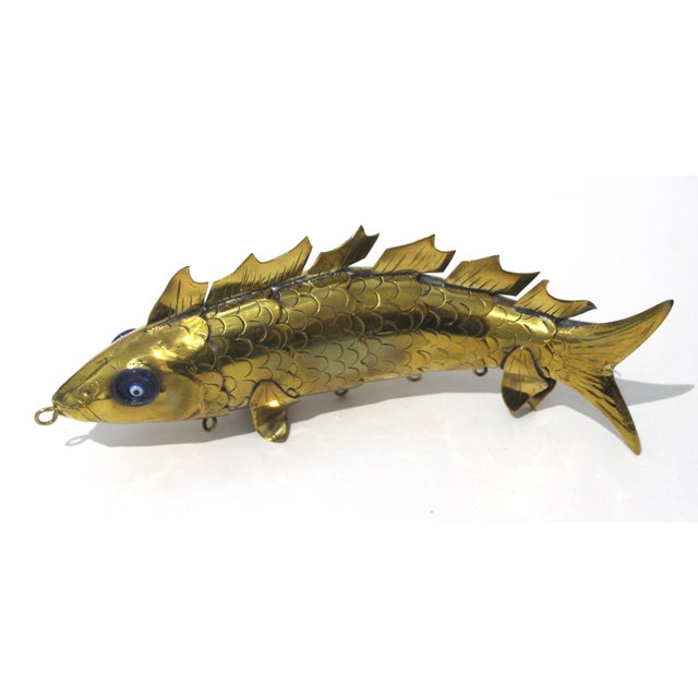 Mid 20th Century Mid-Century Modern Articulated Fish Sculpture From Malta For Sale - Image 5 of 13