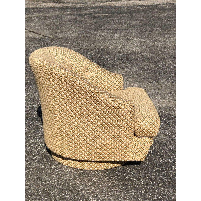 Directional 1970s Mid-Century Modern Directional Barrel Back Swivel Club Chair With Ottoman - 2 Pieces For Sale - Image 4 of 12