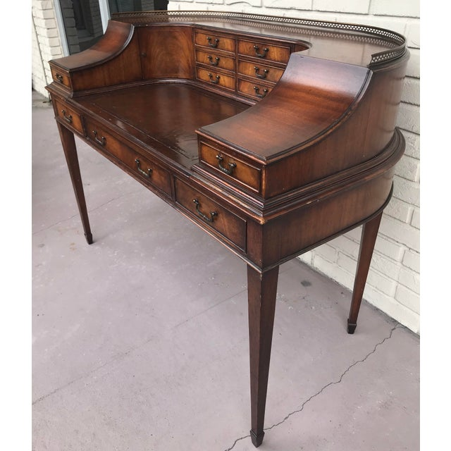 1920s Vintage Kittinger Harpsichord Desk With Chair For Sale - Image 5 of 11
