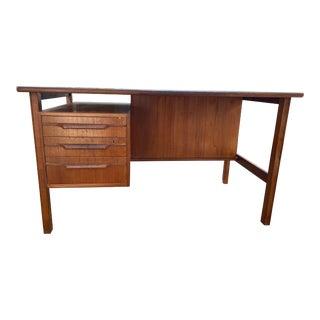 Vintage Kalundborg Mobelfabrik Mid Century Modern Teak Desk For Sale