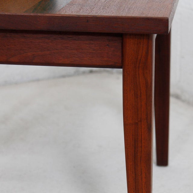 Danish Modern Mid-Century Teak Walnut & Rosewood Accent Table For Sale - Image 3 of 7