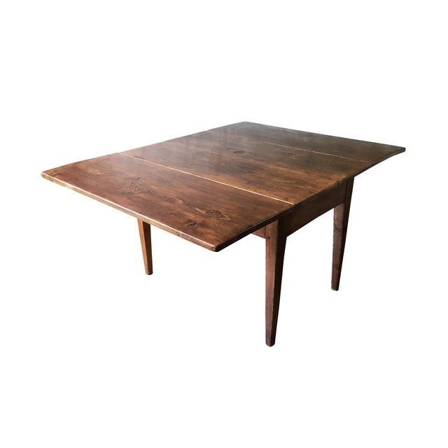 Boho Chic Antique Hepplewhite Farmhouse Drop Leaf Table, Circa 1790-1820 For Sale - Image 3 of 11