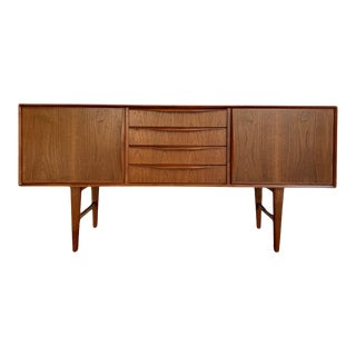 Sculpted Mid Century Modern Styled Credenza / Sideboard / Media Stand For Sale