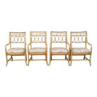 Henredon Bamboo Arm Chairs - Set of 4