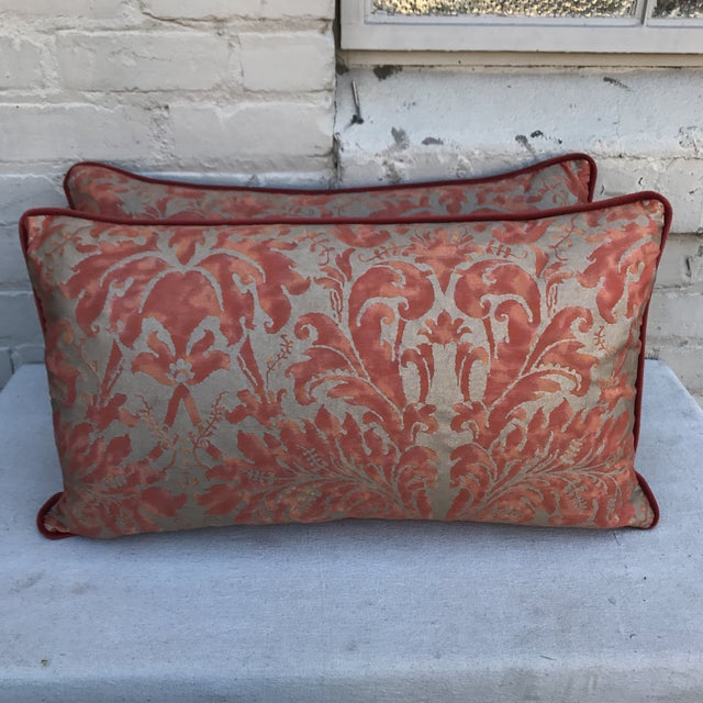 Lucrezia Patterned Fortuny Pillows - A Pair - Image 2 of 5