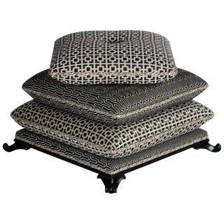 Stacked Pillow Pouf or Ottoman For Sale