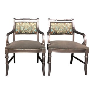 1990s Traditional Accent Arm Chairs - a Pair For Sale