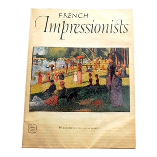 1950s French Impressionists Art Book Including 16 Prints For Sale