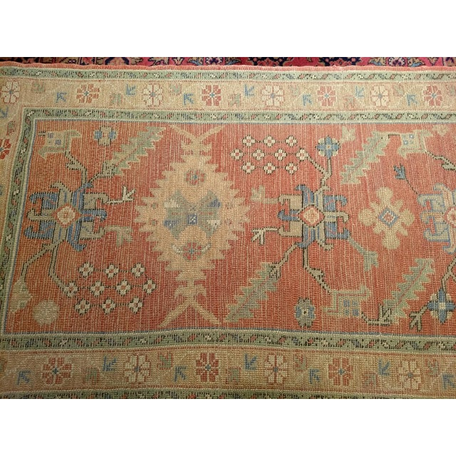 """Late 1800s Turkish Oushak Runner- 3' 5"""" X 14' 5"""" For Sale In Chicago - Image 6 of 13"""