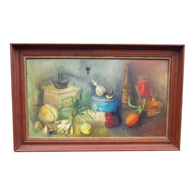 Modernist Abstract Ardoth Terrill Hughes Still Life Painting - Image 1 of 9