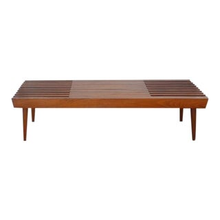 Mid-Century Modern Expandable Slat Coffee Table