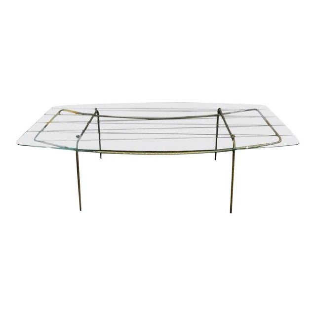 Italian Gio Ponti Inspired Brass and Glass Coffee Table For Sale - Image 13 of 13