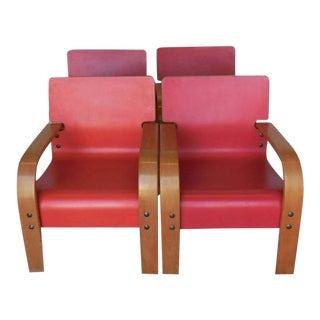 Bent Plywood Lounge Chairs - Set of 4