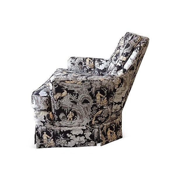 Toile Club Chair - Image 4 of 6