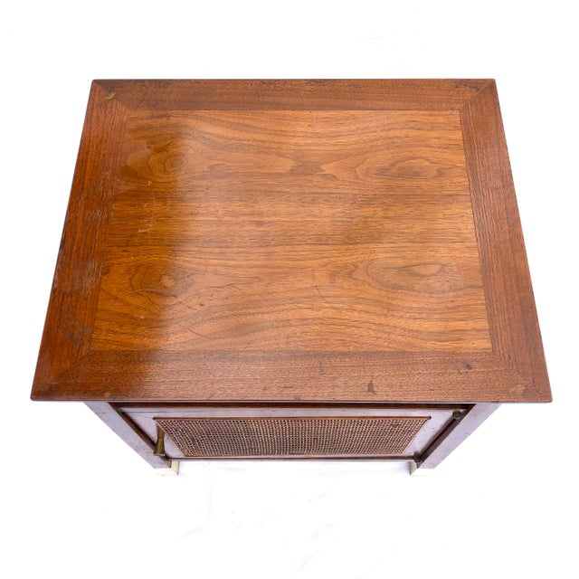 Mid-Century Modern Paul McCobb Manner Walnut Side Table For Sale - Image 9 of 11