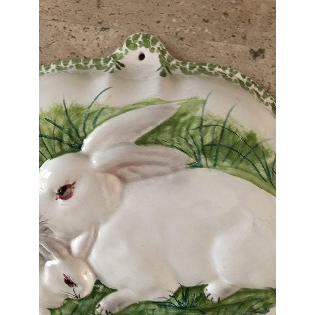 Majolica Intrada Italian Majolica Bunny Mold For Sale - Image 4 of 7