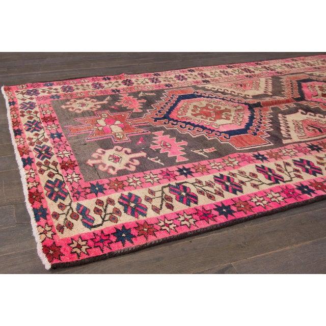 "Vintage Persian Heriz Rug, 3'8"" X 10'9"" - Image 5 of 8"