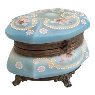 Antique Wavecrest Trinket Box For Sale