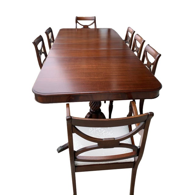 Vintage Berkey and Gay Dining Table and 7 Chairs - 8 Pieces For Sale - Image 13 of 13