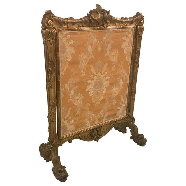 Antique Louis XV Style French Fire Screen For Sale - Image 13 of 13