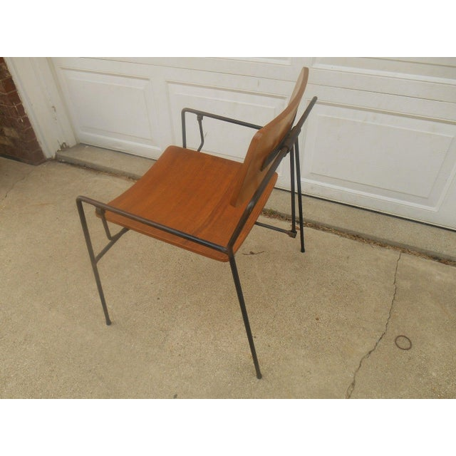 Arthur Umanoff Iron & Walnut Swing Chair - Image 6 of 8