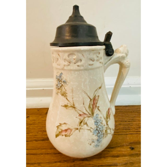 Antique Bennett's Patent Stein Style Syrup Pitcher For Sale - Image 11 of 11