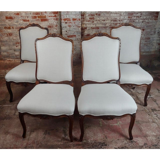 French Provincial Country Style Oversized Dining Chairs - Set of 4 For Sale - Image 10 of 10