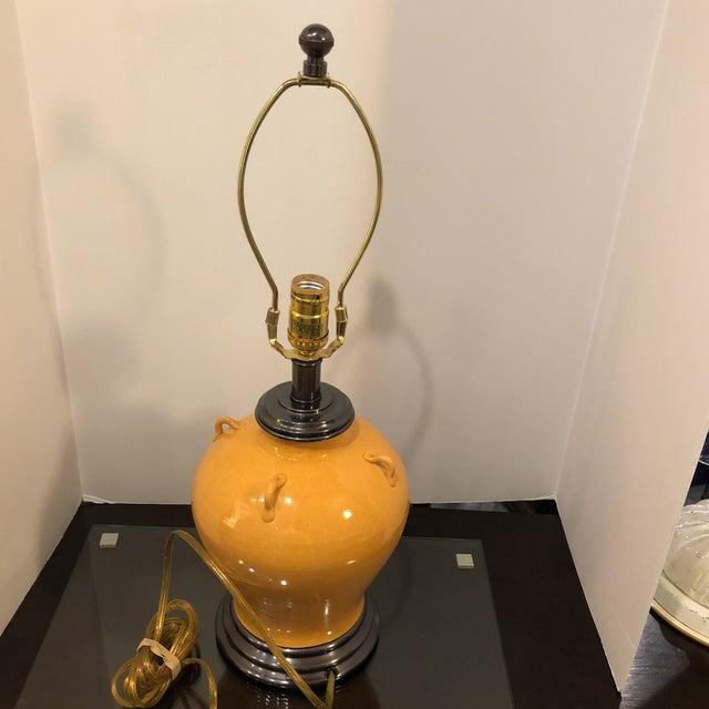 Frederick Cooper Burnt Orange Ceramic Table Lamp Chairish