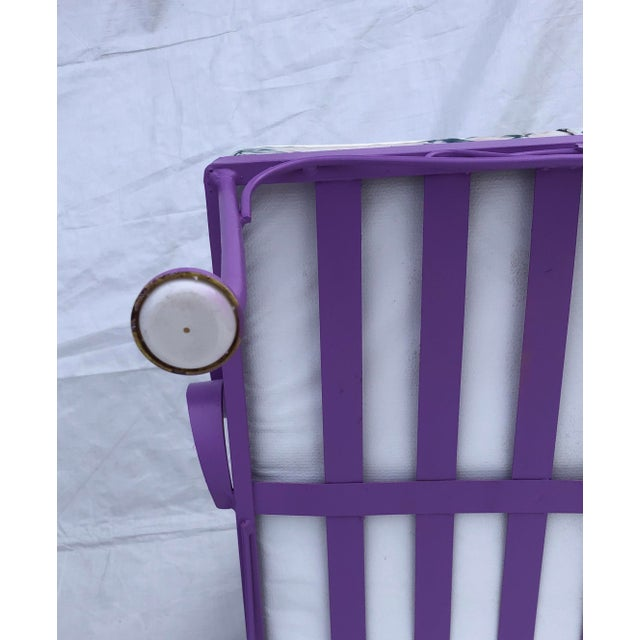 Mid-Century Modern C. 1970s Fresh Violet Paint 5-Piece Outdoor Set For Sale - Image 11 of 13