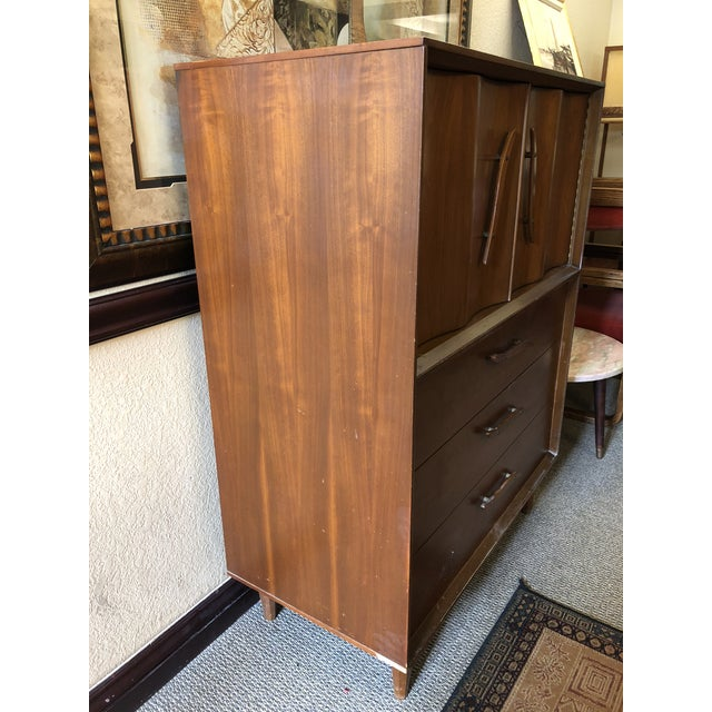 Mid-Century Modern 1950s Mid-Century Modern Highboy For Sale - Image 3 of 13