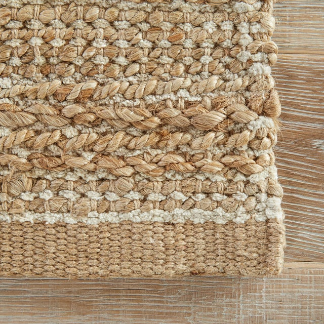 Contemporary Jaipur Living Canterbury Natural Solid Tan/ White Area Rug - 9′6″ × 13′6″ For Sale - Image 3 of 6