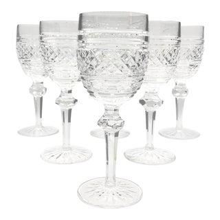 1960s Vintage Waterford Castletown Pattern Claret / Red Wine Glasses - Set of 6 For Sale