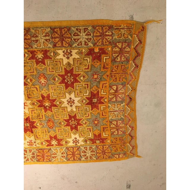 Gold Multi Moroccan rug For Sale - Image 4 of 11