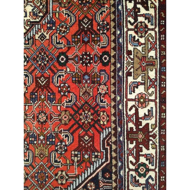 1950s Persian Handmade Village Carpet Rug 4′3″ × 6′11″ For Sale - Image 9 of 13