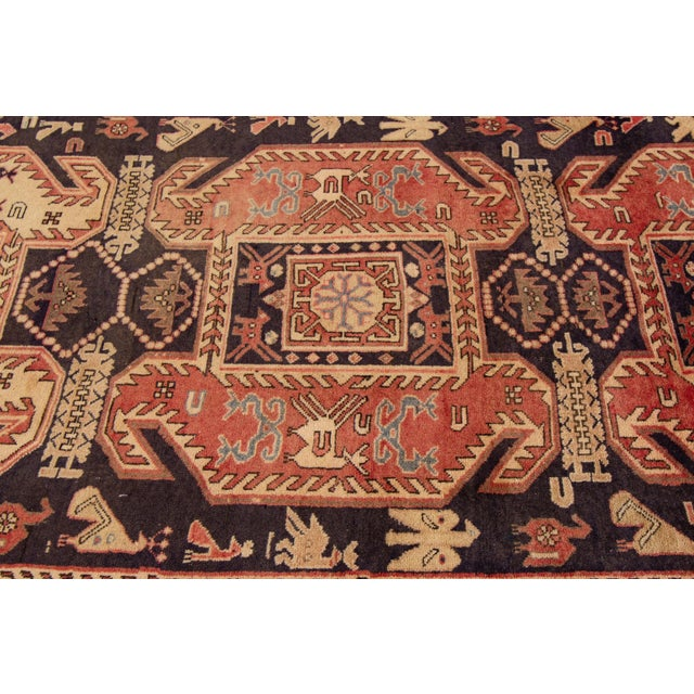 """Traditional Apadana - Vintage North West Persian Rug, 4'3"""" X 10'4"""" For Sale - Image 3 of 8"""