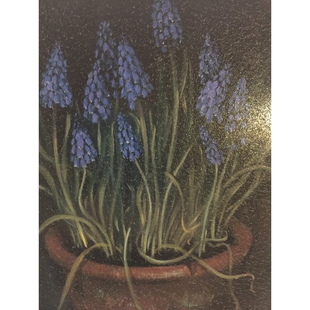 Framed Painting of Flowers in a Clay Pot - Image 5 of 5
