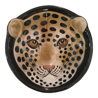 Italian Mid-Century Modern Leopard Bowl/Catchall For Sale