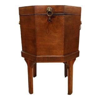 George III Cellarette on Original Stand For Sale