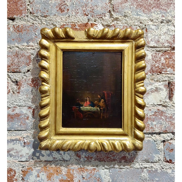 Brown Late 18th Century Supper With Jesus Flemish Oil Painting For Sale - Image 8 of 8