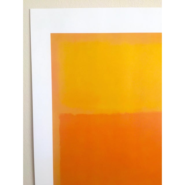 """Mark Rothko Mark Rothko Vintage 1990's Abstract Expressionist Lithograph Print Poster """" Orange and Yellow """" 1956 For Sale - Image 4 of 10"""