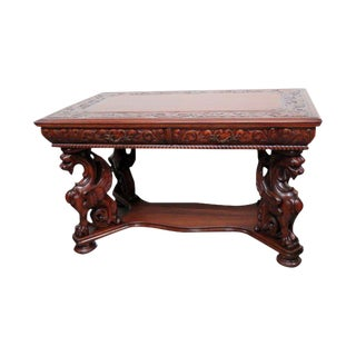 Rj Horner Renaissance Style Winged Griffin Desk For Sale