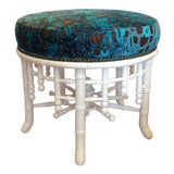 """Image of """"Brighton"""" Lacquered Faux Bamboo Ottoman For Sale"""