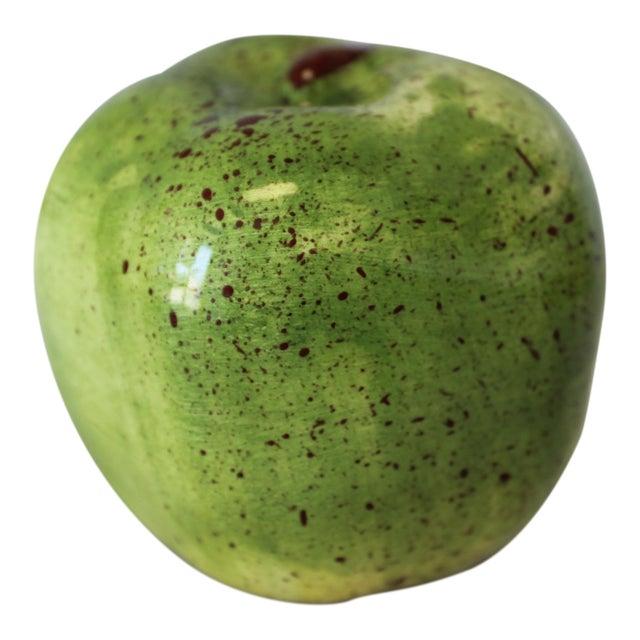 Italian Ceramic Green Apple For Sale