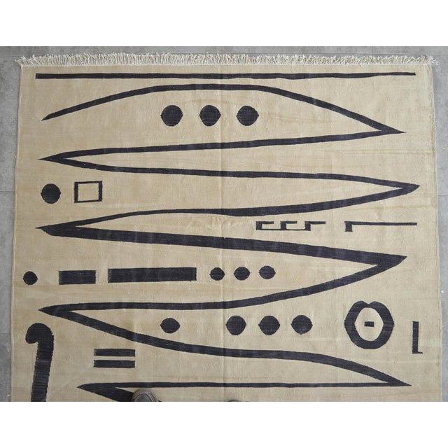 Silk Paul Klee - Heroic Strokes of the Bow - Inspired Silk Hand Woven Area - Wall Rug 4′10″ × 6′7″ For Sale - Image 7 of 12