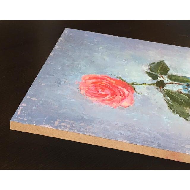 """Rose"" Original Oil Painting - Image 5 of 5"