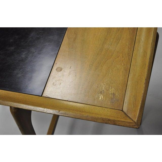 John Keal Brown Saltman Mid-Century Danish Modern Sculptural Walnut Side Table For Sale - Image 9 of 12