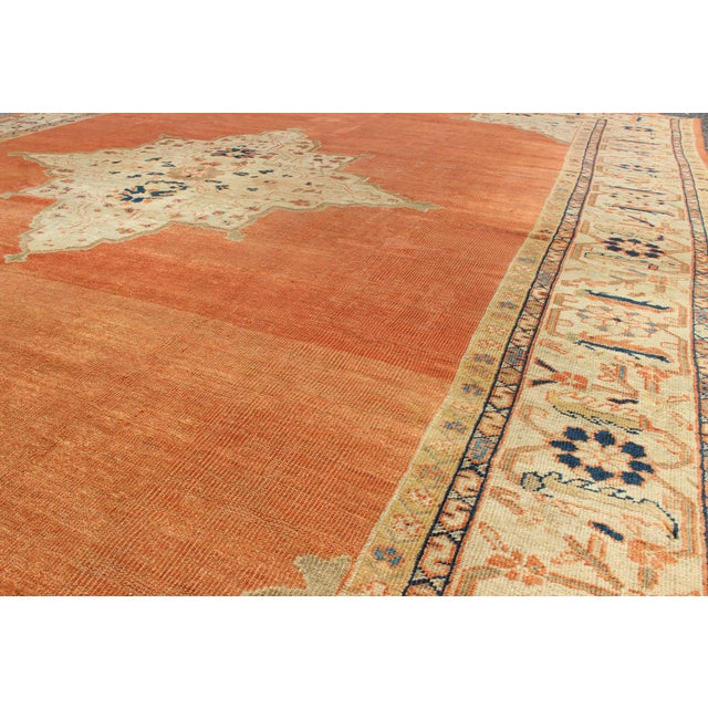Textile Keivan Woven Arts, E-1207, Late 19th Century Antique Ziegler Sultanabad Rug - 10′2″ × 14′5″ For Sale - Image 7 of 10